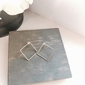 Anthropologie Silver Stud Earrings